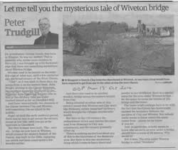 EDP article on Wiveton Bridge