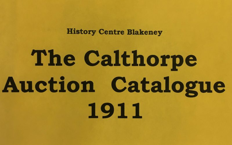 The Calthorpe Auction Catalogue 1911