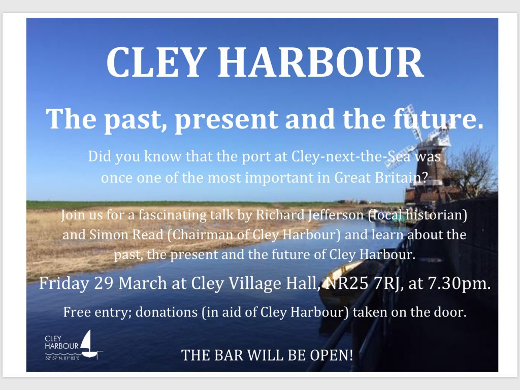 Cley Harbour Talk 29 March 2019